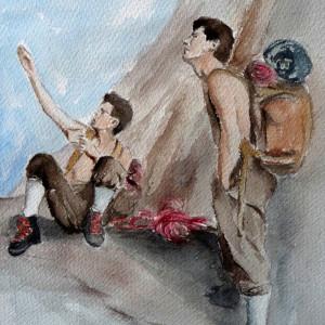 """HERMANOS RAVIER (ACUARELA PINTADA PARA"""" EL OTRO LADO DE LA CUERDA"""""""