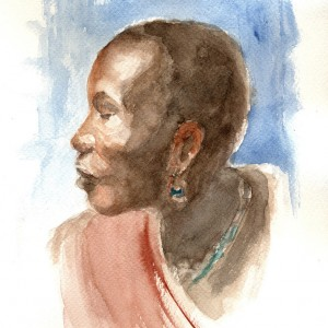 AFRICA 07 (ACUARELA)